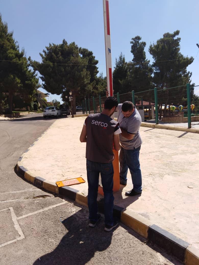 بوابات الدخول المرآب - الباركنغ - دخول السيارات - دمشق - سورية.